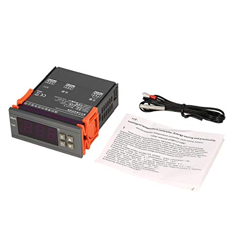 Greatangle MH1210W AC90-250V Controlador regulador de termostato de Temperatura Digital -50~110 ℃ Control de enfriamiento de calefacción Sensor NTC Gris