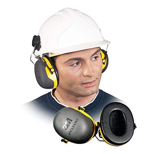 3M PELTOR X2P3 Orejeras para casco con anclaje P3E 30db (1 orejera/caja), amarillo