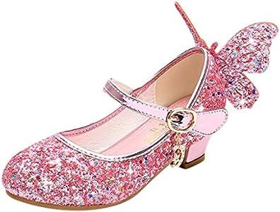 Luckycat Zapatos de Baile Niña Zapatos Bebe Niña con Suela Primeros Pasos Bautizo Verano Lentejuelas Zapatos de Princesa Chicas Sandalias de Vestir Niña Zapatos Niña Fiesta Cumpleaños