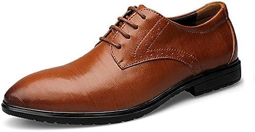 YIJIAN-schuhe Herren Oxford Schuhe Stilvolle Bequeme Herren Business Oxford Casual Neue Unsichtbare Innenschuhe Klassische Formale Schuhe Kleid Oxford Schuhe (Farbe   Braun, Größe   45 EU)