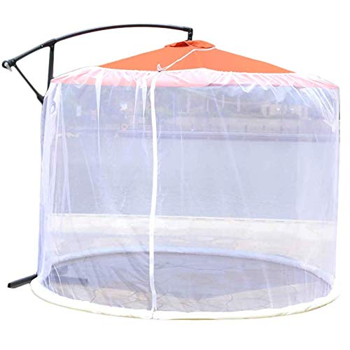 Umbrella Cover Mosquito Netting Screen, Outdoor Garden Umbrella Table Screen Parasol Mosquito Net Cover, 300x230cm Mesh Enclosure Cover for Patio Deck Furniture with Zipper