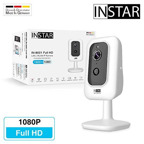 INSTAR IN-8001 Full HD weiss - WLAN Überwachungskamera - IP Kamera - Innenkamera - Bewegungserkennung - PIR - Wärmesensor - Nachtsicht - 940nm unsichtbare LEDs - Weitwinkel - LAN - WiFi - ONVIF - MQTT