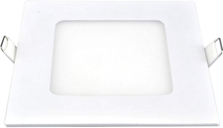 Quadratisches Downlight, LED Einlegeblende Troffer Panel Light Kitchen Light Einbau Deckenleuchte 2er Pack (Farbe   Warmwei-18w)