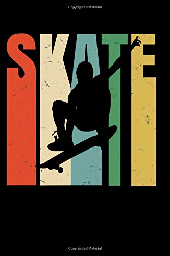 SKATE: cool notebook 6x9 110 page gift for skateboarder
