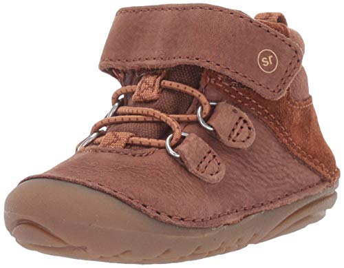 Stride Rite Baby-Boy's Soft Motion Blake Ankle Boot, Brown, 3.5 W US Toddler