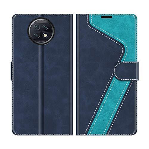 MOBESV Funda para Xiaomi Redmi Note 9T 5G, Funda Libro Xiaomi Redmi Note 9T 5G, Funda Móvil Xiaomi Redmi Note 9T 5G Magnético Carcasa para Xiaomi Redmi Note 9T 5G Funda con Tapa, Azul