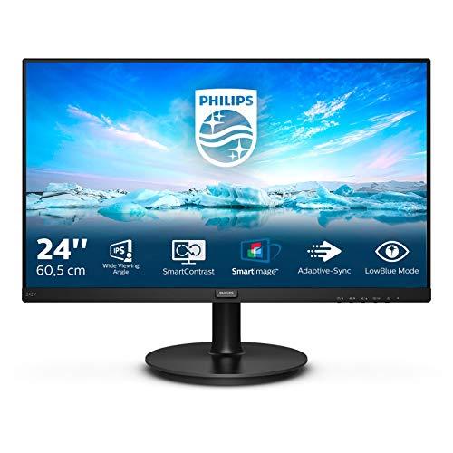 Philips 242V8A - 24 Zoll FHD Monitor, AdaptiveSync (1920x1080, 75 Hz, VGA, HDMI, DisplayPort) schwarz