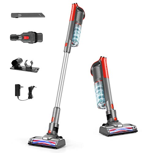 GeeMo Cordless Vacuum Cleaner, Powerful Suction 4 in 1 Brushless Motor Stick Vacuum for Home Hardwood Floor Pet Hair K14