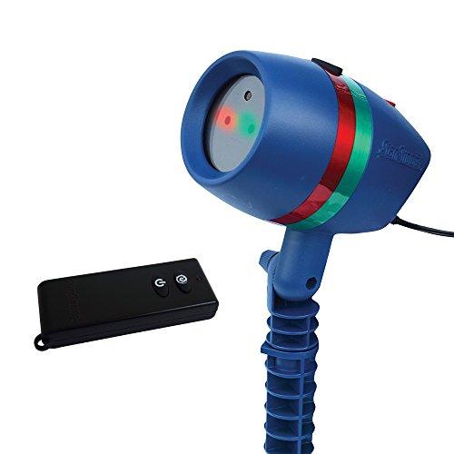 Star Shower Motion mit Fernbedienung | Laserlicht Lichtsystem für Innen und Außen | Weihnachts-Party-Beleuchtung | bewegte oder fixierte Lichtmuster | inklusive Erdspieß | Das Original aus dem TV