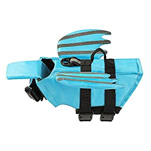 UPXNBOR Dog Life Jacket, Luminous Angel Wings Pet Floatation Life Vest for Small, Middle, Large Size Dogs, Dog Lifesaver Preserver Swimsuit for Water Safety at The Pool, Beach, Boating