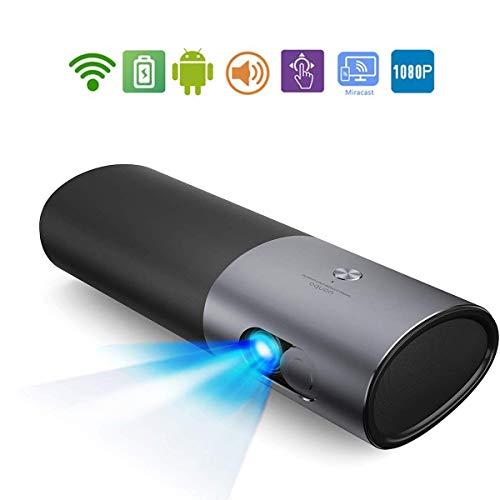 WXJZ projector Mini Smartphones LED 30000 uur 4k Beamer home theater 1080p met ingebouwde luidspreker voor smartphone PC laptop thuisbioscoop videoprojector