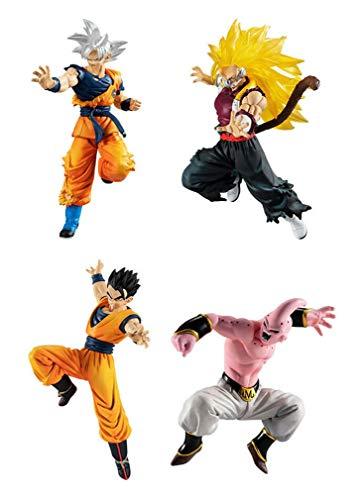 Dragonball Super Conjunto Completo 4 Figuras Colección Versus Battle Figure Series 12 Bandai Gashapon Goku The Ultra Instinct SS3 Cumber Ultimate Gohan Evil Buu