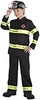 AMSCAN Reflective Firefighter Halloween Costume for Boys, Medium, with Included Accessories