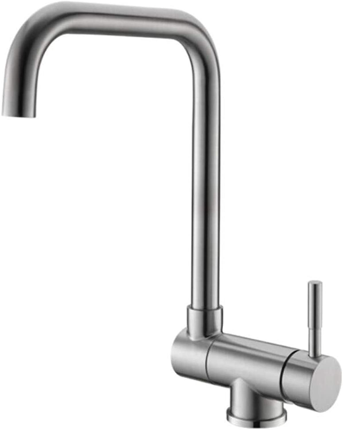 Taps Mixer?Swivel?Faucet Sink Folding Kitchen Faucet Sink Vegetable Basin Stainless Steel Wire Drawing Cold and Hot Water Faucet Can redate
