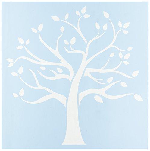 Unbekannt Klar spülreste Kunststoff Schablonen 12Zoll x 12Zoll Familie Baum