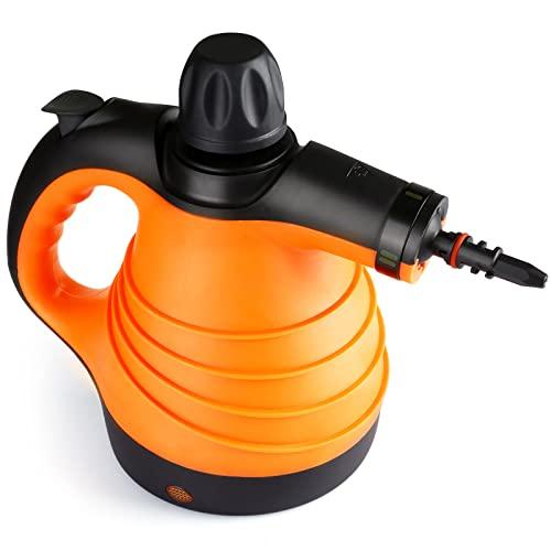 Dampfreiniger, Multifunktionaler Handdampfreiniger 1100W, mit 330ml Wassertank, Dampfreiniger Hand mit 9 Zubehör, Dampfreiniger Handgerät für Haus, Küche, Bad, Flur, Teppich, Vorhänge usw