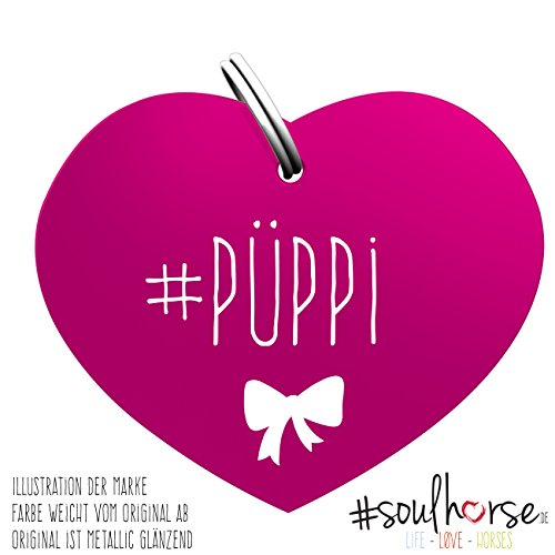 Soulhorse Püppi pink Kleiner Glücksbringer Marke Anhänger für Pferdezubehör Halfter Trense Zaumzeug Sattel Vorderzeug