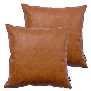 faux leather throw pillows
