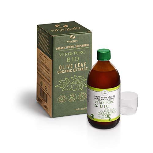 MyVitaly Verdepuro BIO - Estratto di foglie di olivo biologico CONCENTRATO - Controllo del colesterolo, Immunostimolante, Antiossidante