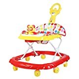 Baby Walker with Music and Light with Adjustable Height and Push Handle Bar