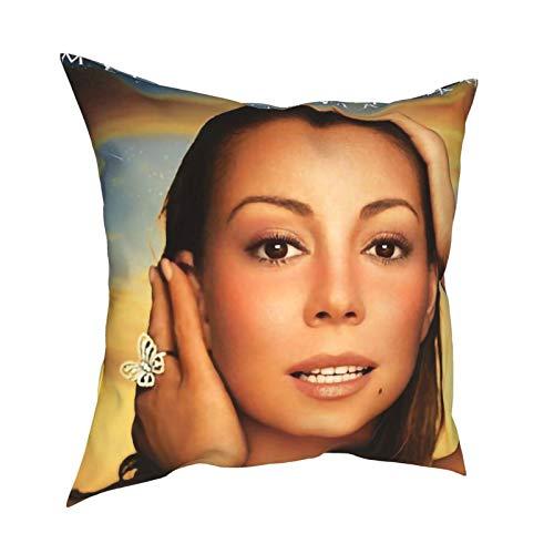 Hongfeimaoyi Ma_Riah Ca_Rey - Juego de 4 fundas de almohada cuadradas de 45,7 x 45,7 cm, lino cuadrado, decoración del hogar, fundas de cojín para sofá, silla, sofá