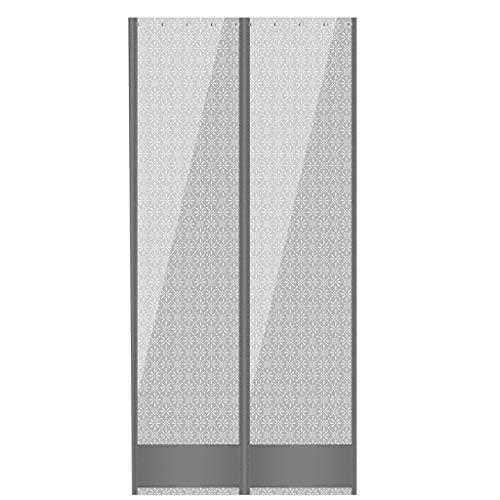 ZL Magnetische kunststof vinyl strook gordijn voor Walk In Freezers, koeler & opslagdeuren - helder, 80 Mil dikte, bottom gewicht, gemeenschappelijke deurkit (hardware wordt meegeleverd)