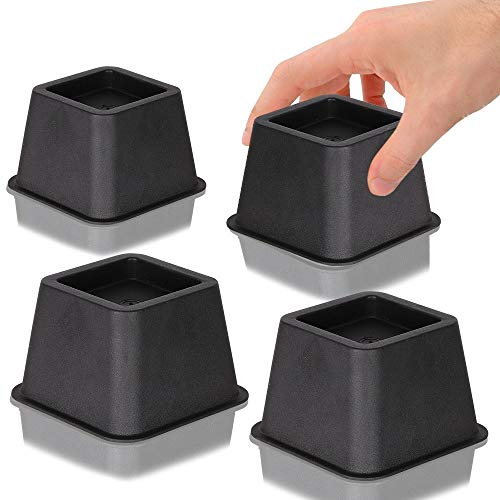 DuraCasa Bed Risers - Raises Your Bed or Furniture to Create an Additional 3 Inches of Storage!...