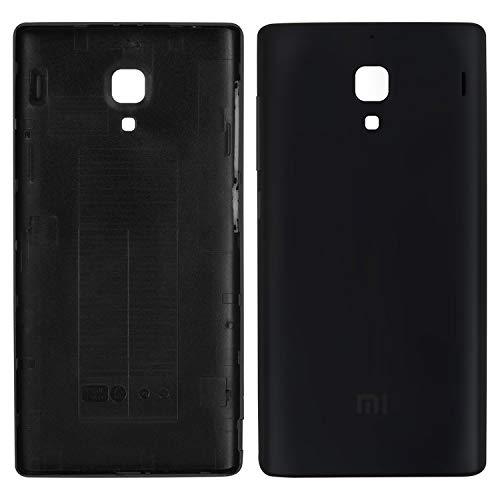 Carcasa de la batería trasera de la cubierta de repuesto de piezas de repuesto compatibles con Xiaomi Red Rice 1S, (negro)