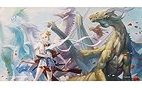 タカヤマトシアキ プレイマット ドラゴン集合絵と少女/七色の希望