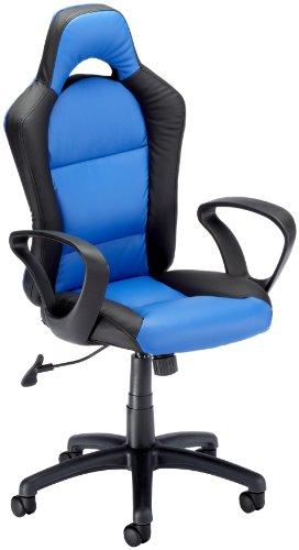 Easychair managersstoel 020610 Monza zwart/blauw