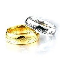 リング 指輪 メンズ ステンレス ナンバー刻印リング 数字 いぶし加工 アンティーク 316Lサージカルステンレス ゴールド 18号(UKサイズ9)