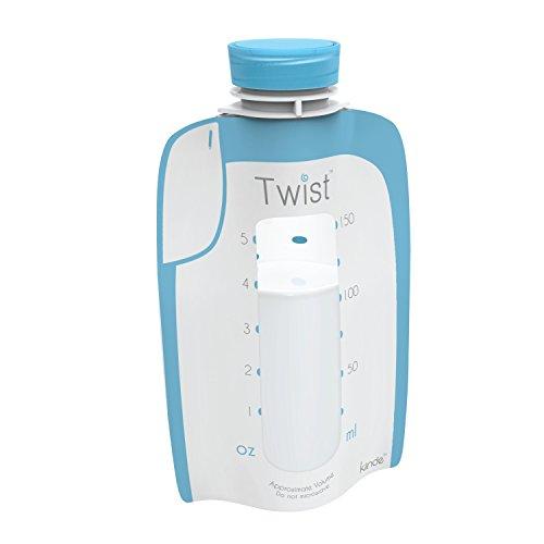 Kiinde Breast Milk Storage Twist Pouch, Extra Large (6 Oz - 160 Pack)