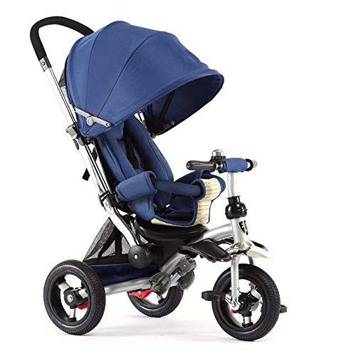 GSDZSY - 3 IN 1 Dreirad Kinderdreirad Für Kinder,Sitz Verstellbar, Baby Kann Flach Sitzen Oder Liegen, Schubstange Kann Die Richtung Steuern, Gummirad, 1-6 Jahre Alt