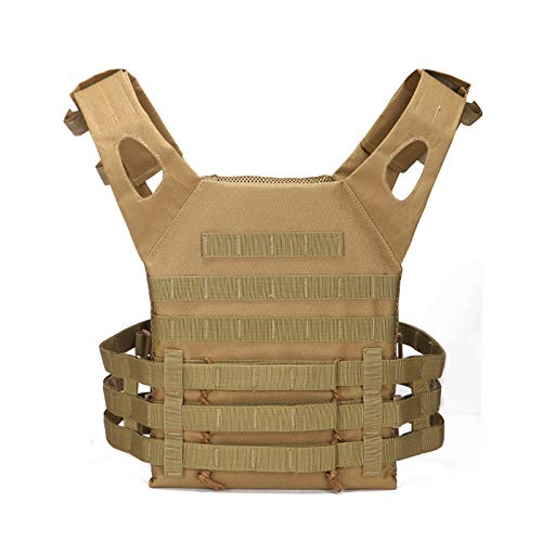 DDH Tactical Vest, Hunting Vest Soft Plate Holder, Outdoor Combat Equipment Uniform, For Outdoor Hunting Fishing Hiking Airsoft War Game, For Special Mission, Camping, Hunting-Green||s