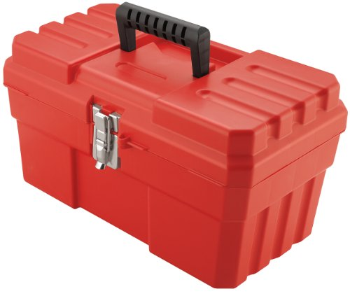 Akro-Mils 09514 ProBox 14-Inch Plastic Toolbox for Tools, Hobby or Craft Storage Toolbox with Removable Tray, 14-Inch x 8-Inch x 8-Inch, Red