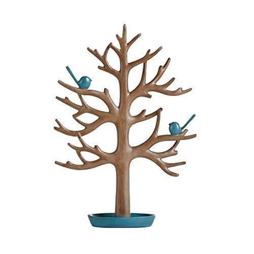 YXCKG Plato De La Bandeja De Joyería, Home - Bandeja Decorativa,guardador Maquillaje, Soporte De Pendiente, Exhibición De Anillo, Organizador De Collar De Árbol De Aves