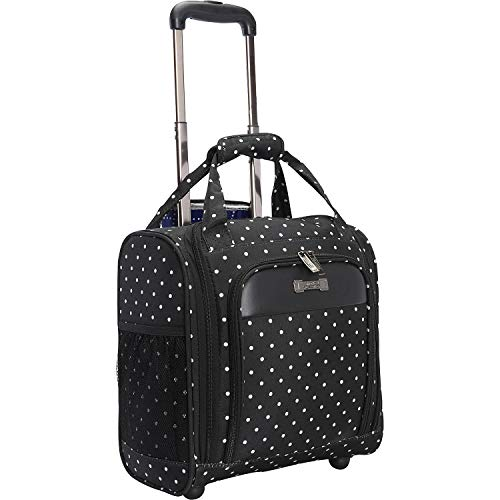 Kenneth Cole Reaction Dot Matrix 14' Lightweight 2-Wheel Underseater Carry-On Luggage, Black