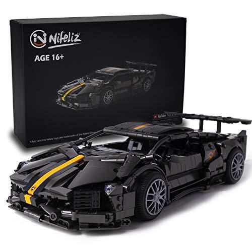 Nifeliz L670 Sports Car MOC Building Blocks and Construction Toy, Adult Collectible Model Cars Set to Build, 1:14 Scale Sports Car Model (1337 Pcs)