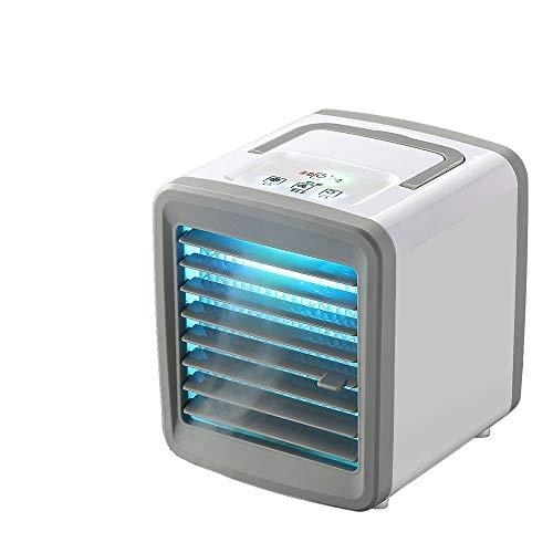 CFmoshu Luftkühler USB Verdunstungskühler Ventilator Luftbefeuchter Mobile Klimageräte 3 Geschwindigkeiten Mit Tank Luftreiniger Nachtlicht Ideal Für Zuhause Und Büro