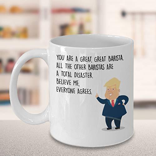 Thomas655 Grappige Barista koffiemok President Donald Trump Beste gepersonaliseerde individuele geschenken voor barkeepers wachten medewerkers Sommeliers U bent geweldig