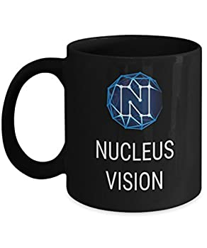 Official Nucleus Vision Cryptocurrency Mug Acrylic Coffee Holder Black 11oz Crypto Miner Blockchain Invest Trade Buy Sell Hold NCASH