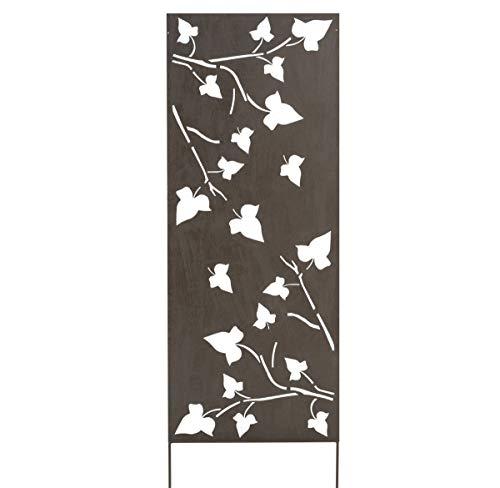 Nortene 2012059 Panneau en métal avec Motif Floral Marron 0,6 x 1,5 m
