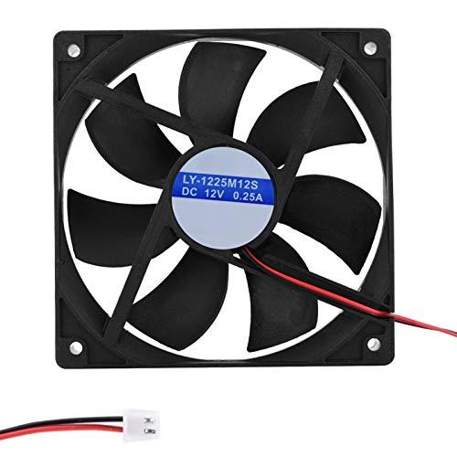 DERCLIVE Ventilador de refrigeración para computadora portátil silencioso interno para computadora de 12 cm
