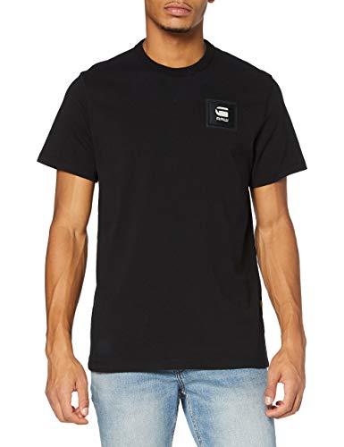 G-STAR RAW Badge Logo+ Camiseta, para Hombre, Negro (Dk Black C336-6484), XL