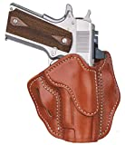 1791 GUNLEATHER 1911 Compact Optic Ready Holster - OWB CCW Holster - Right Handed Leather Gun Holster for Belts - Fits 1911 Commander, Officer Models with 4' and 4.25' Barrels