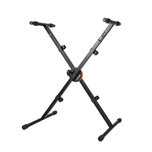 Neewer X-Style Hochleistungs Faltbare Keyboard-Ständer Höhensteuerung Sperre und Anti-Rutsch-Gummikappen, 62cm -91cm höhenverstellbar, schwarz