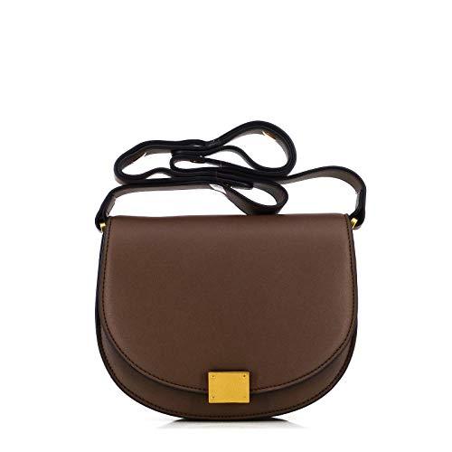 STUDIO.MUNET/Leder Handtasche Schultertasche Tasche/Edda 22 Shoulder Tote Bag/medium / 22x17x8 cm/Nougat Soft Braun
