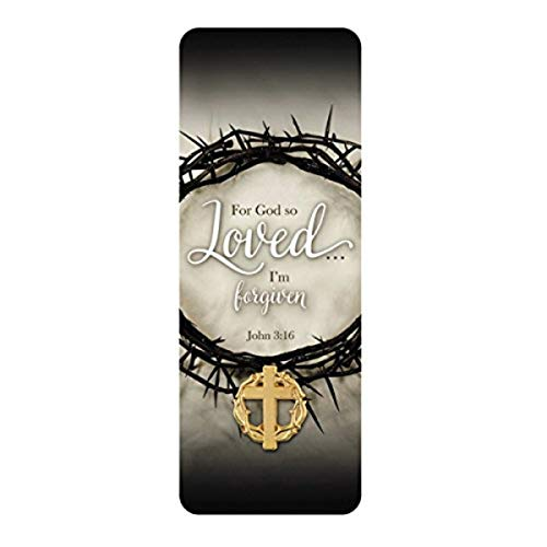Crown of Thorns with Cross Gold-Tone Lapel Pin with Bookmark, 7/8 Inch