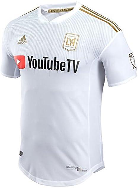 Amazon.com: Adidas Men's LAFC Authentic Away Jersey 2018 (White ...