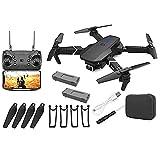 NiceJoy UAV con 2battery Black GPS Drone E88 Pro para Adultos 4k Pro Dual Cámara Plegable Video Live Drone RC Quadcopter Aviones